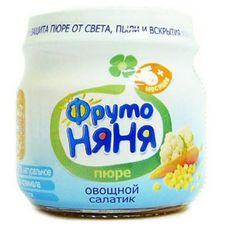 """Пюре """"Фрутоняня"""" Овощной салатик 80 г, 12 б./уп."""