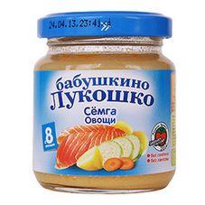 "Пюре Семга-Овощи ""Бабушкино лукошко"" 100 г, 6 б./уп."