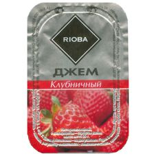 Джем порционный RIOBA клубника, 20 шт. в упаковке по 20г
