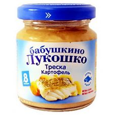 "Пюре Треска-Картофель ""Бабушкино лукошко"" 100 г, 6 б./уп."