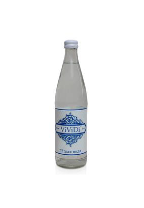 """Легкая питьевая вода """"ViViDi Snow"""" 0,5 л стекло, 12 шт./упаковка"""