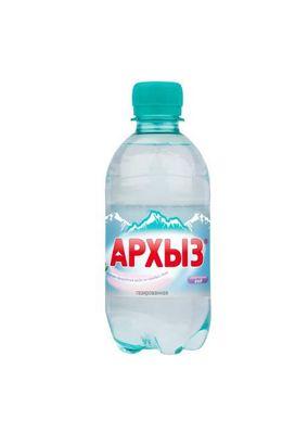 """Минеральная вода """"Архыз"""" газ ПЭТ 0,33л. 12 шт./упаковка"""