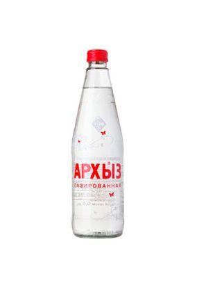 """Минеральная вода """"Архыз"""" газ стекло 0,5л, 20 шт./упаковка"""