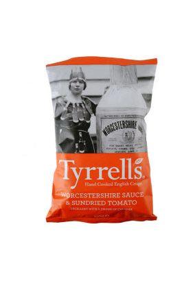 Чипсы TYRRELS с вустерским соусом и сушёными томатами , 150 г