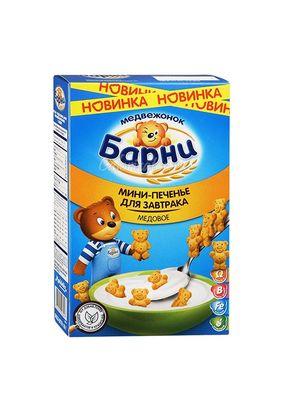 Мини-печенье Медвежонок Барни для завтрака медовое