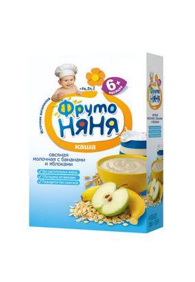 """Каша молочная """"Фрутоняня"""" Овсяная с бананом и яблоком 200 г, 9 шт./уп."""