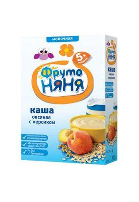 """Каша молочная """"Фрутоняня"""" Овсяная с персиком 200 г, 9 шт./уп."""