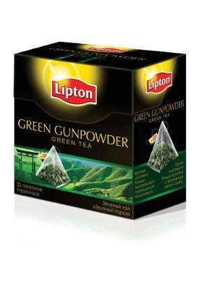 """Чай """"Lipton Green Gunpowder"""" 20 пакетиков"""