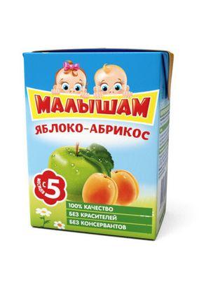 """Нектар """"Малышам"""" Яблоко-Абрикос 0,2л, 27 шт./уп."""
